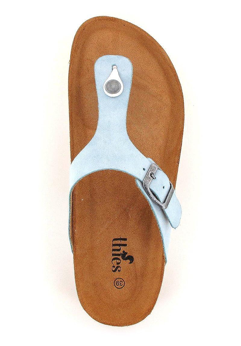 Thies® Bio Sandale, Zehentrenner Zehentrenner Sandale, in Blau Aqua 751a7b