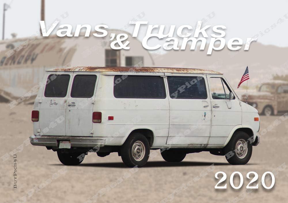 Calendario 2020, tamaño A3, con fotos de American Van Camper Transporter Trucks (BuyPics4U): Amazon.es: Oficina y papelería