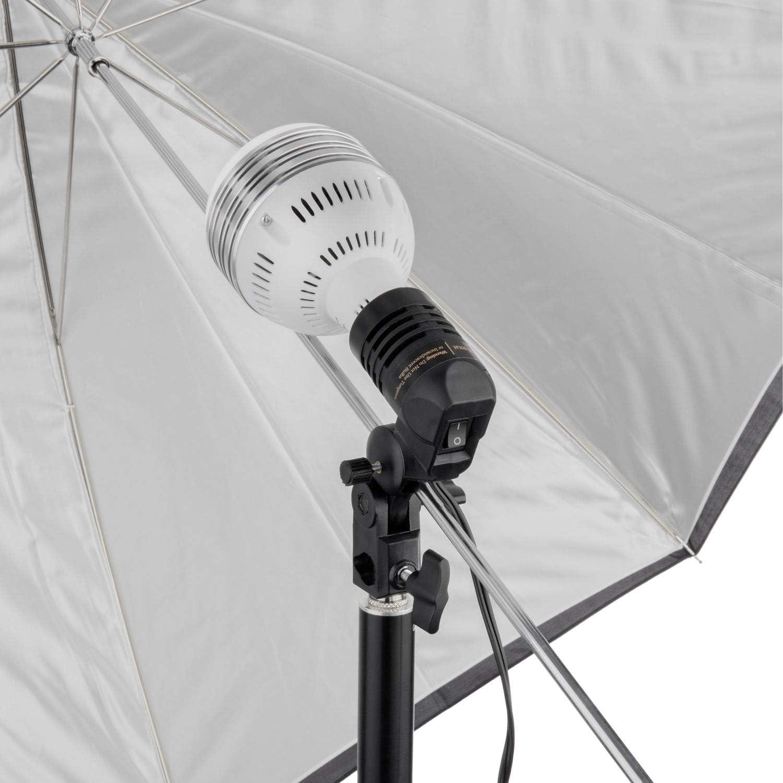 Raya Single LED//Fluorescent Lamp Holder with Umbrella Socket