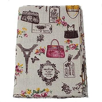 OPEN BUY Tela de algodon vintage de lino para tapizar sillas ...