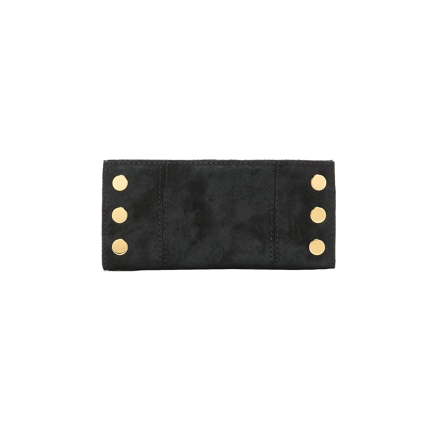 7b96fdfb173f Hammitt Women's 110 North Wallet Space Buffed Black with Gold ...