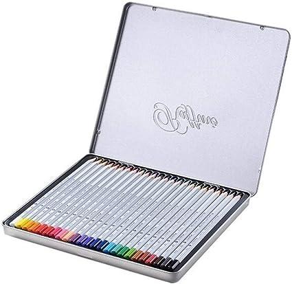 Lápices De Colores De Madera 72 Caja De Hierro Al Óleo Lápices De ...
