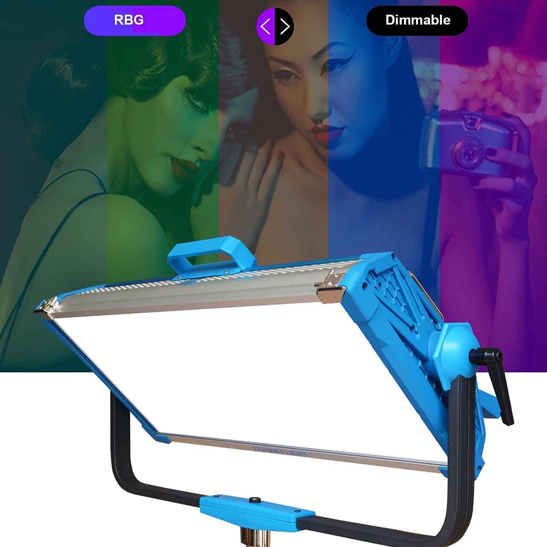 Yidoblo AI-3000C 300W RGBW LED Panel Lamp APP Control Soft LED Lamp 12 Photography Lighting Effects Set for Studio Video Film (Yidoblo AI-3000 C Blue)