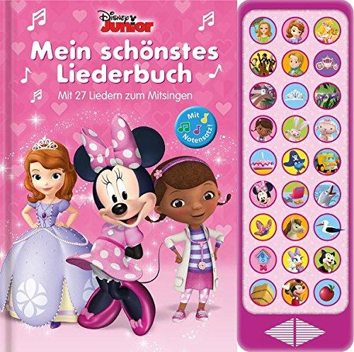 27-Button-Soundbuch - Disney Junior: Mein schönstes Liederbuch - Mit 27 bekannten Melodien zum Mitsingen - Hardcover-Buch mit Noten - Liederbuch