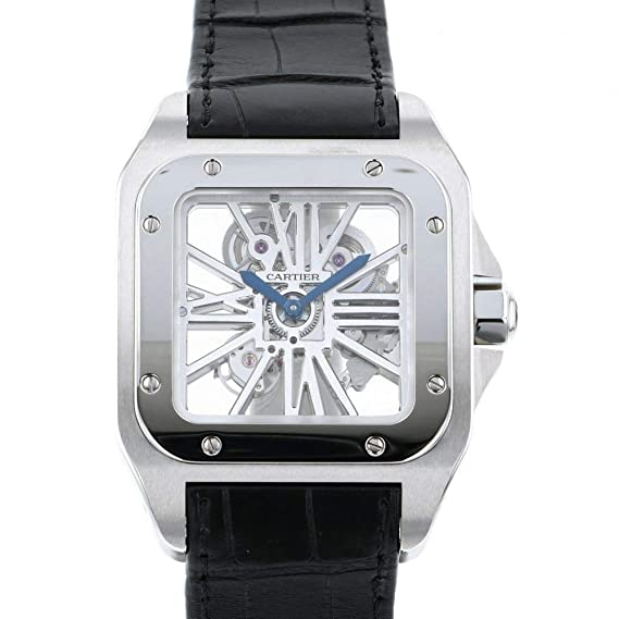 new product bf206 0fc0d Amazon | カルティエ Cartier サントス 100 XL スケルトン ...