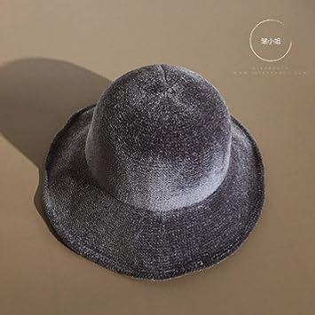 mlpnko Sombrero de Pescador Flow Retro Sun Hat Mujer Lana ...