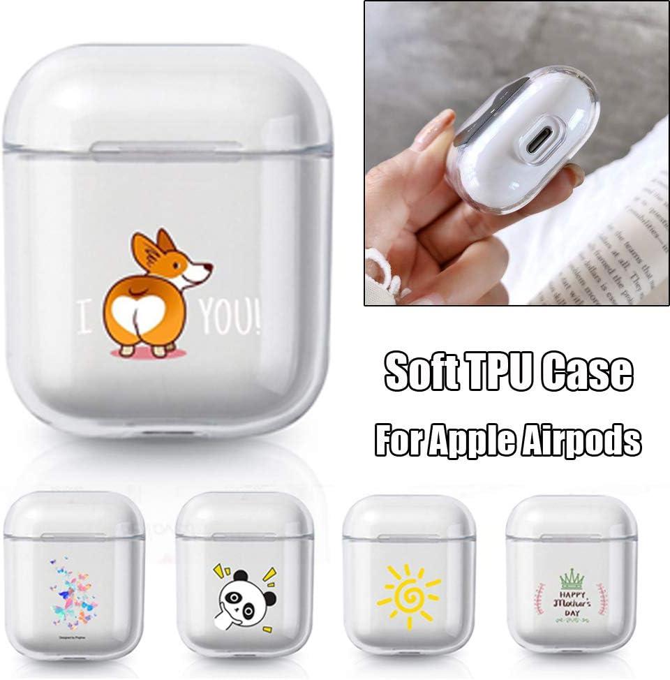 65 Cute Cartoon Smile Soft Silikon TPU H/ülle Klarsichth/ülle f/ür Apple Airpods Charging Case Kopfh/örer Silikonh/ülle