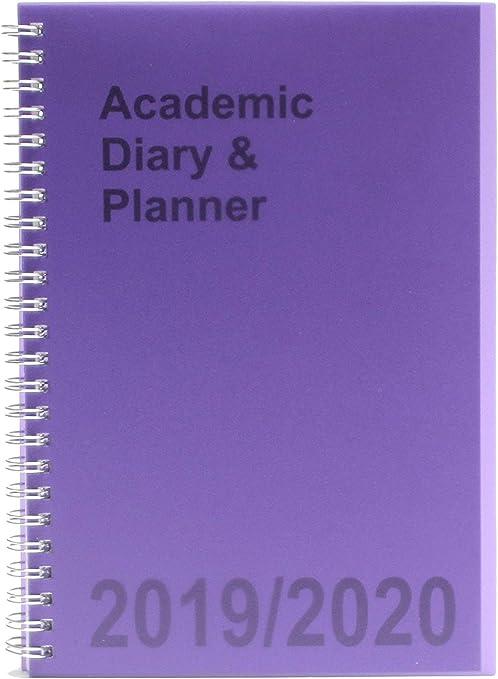Agenda escolar A5 2019-2020 semanal con espiral, color morado ...