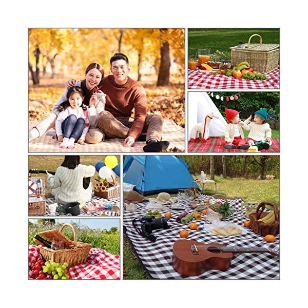 6187P73A8EL SPGOOD Picknickdecke 200 X 200CM 2-5 Personen wasserdicht Stranddecke Campingdecke wärmeisoliert Familiengröße Matte für…