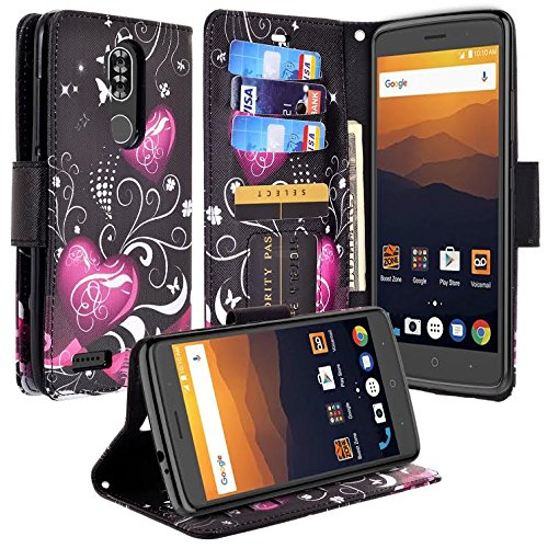 ZTE Max XL Case, ZTE Blade Max 3 Case, ZTE Max Blue Case, SOGA [Pocketbook  Series] PU Leather Magnetic Flip Design Wallet Case Compatible for ZTE Max