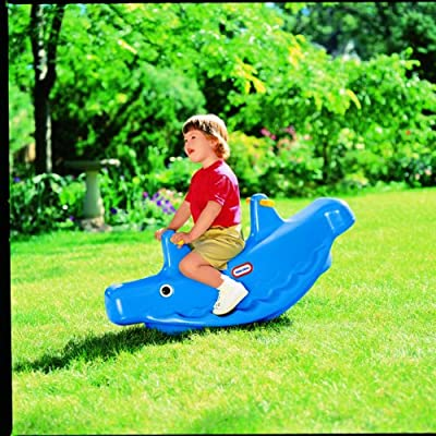 Little Tikes Whale Teeter Totter, Blue: Toys & Games