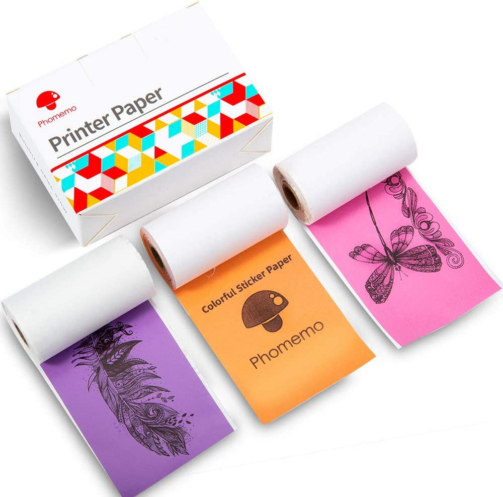 Papel Impresora Pocket Phomemo-m02/m02s Pegamento 3 colores