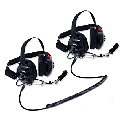c268d9a1b0d Rugged Radios H80-DOUBLE-TALK-X2 Linkable Intercom Headset Kit for 2 People