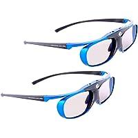 Hi-Shock DLP Link Active 3D Glasses for DLP 3D Projector - Blue (Adults, Blue)