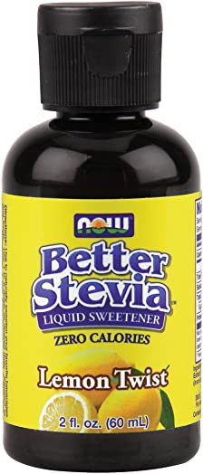 Now Foods BetterStevia Liquid Extract Lemon Twist – 2 oz. 8 Pack