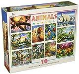 Ceaco 10-in-1 Multi Pack Animals Puzzle (100 Piece)