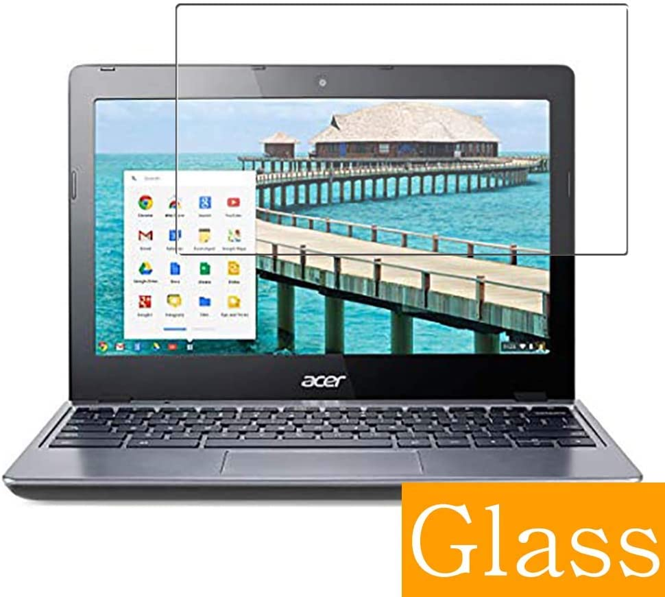 """Synvy Tempered Glass Screen Protector for acer Chromebook C720 11.6"""" Visible Area Protective Screen Film Protectors 9H Anti-Scratch Bubble Free"""