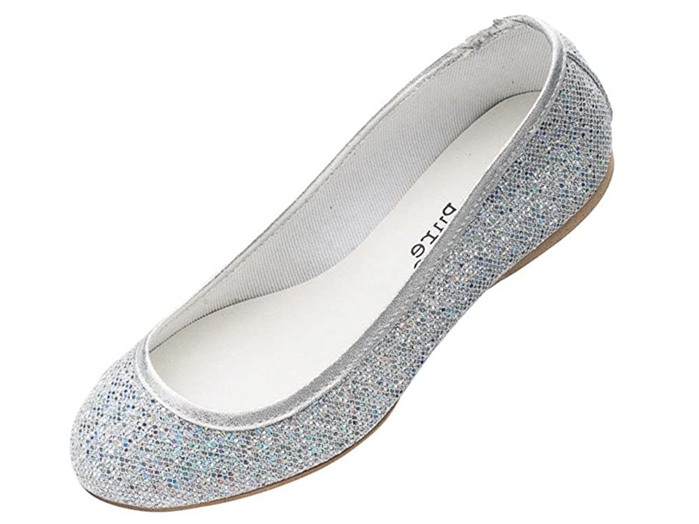 d8f40f1c4c2 Katz Dancewear Ladies Girls Silver Glitter Wedding Bridesmaid Party Ballerina  Pump Shoes Lucy  Amazon.co.uk  Shoes   Bags