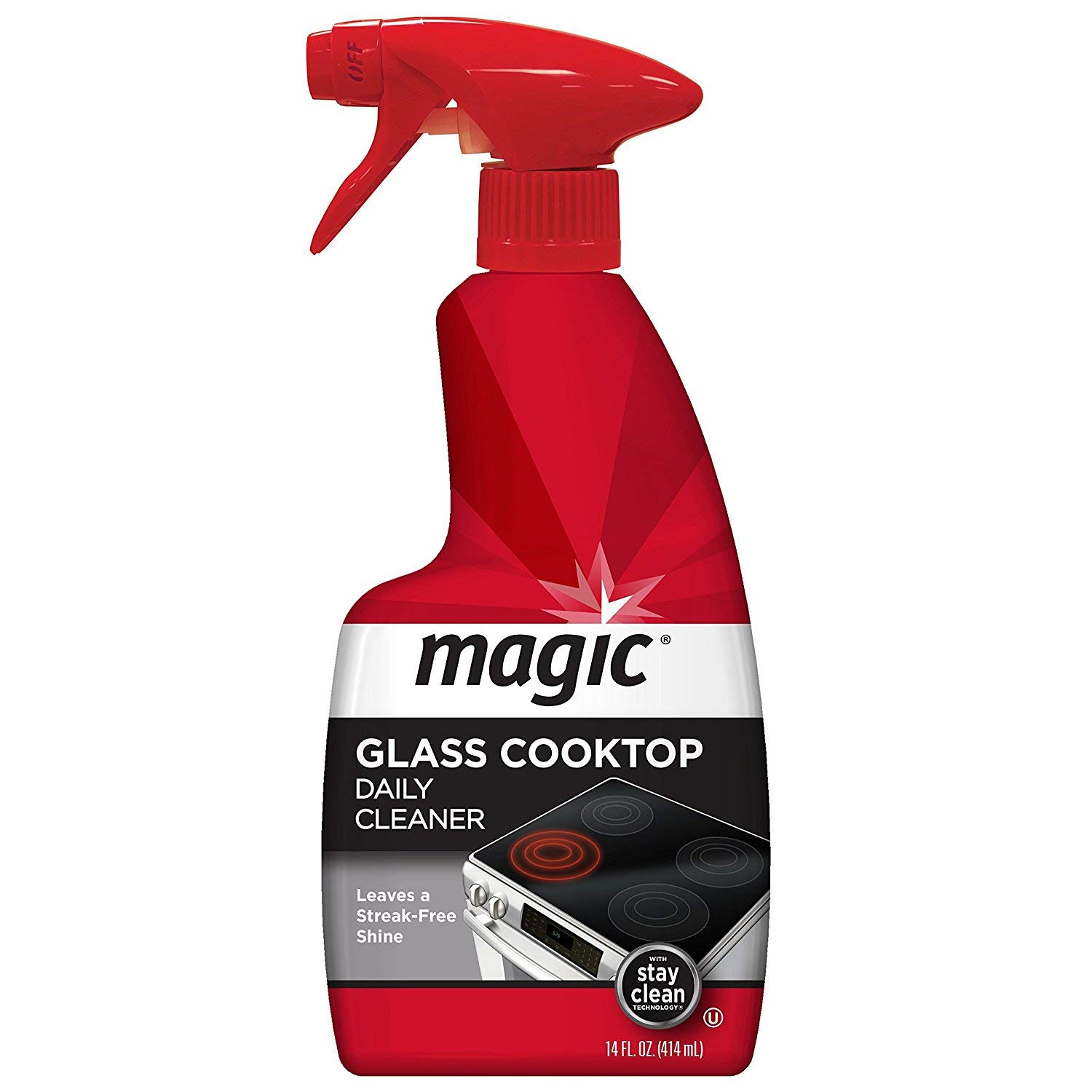 Magic Glass Cooktop Daily Cleaner 14 oz. Trigger (Kosher For Passover) 2-Pack by Magic3