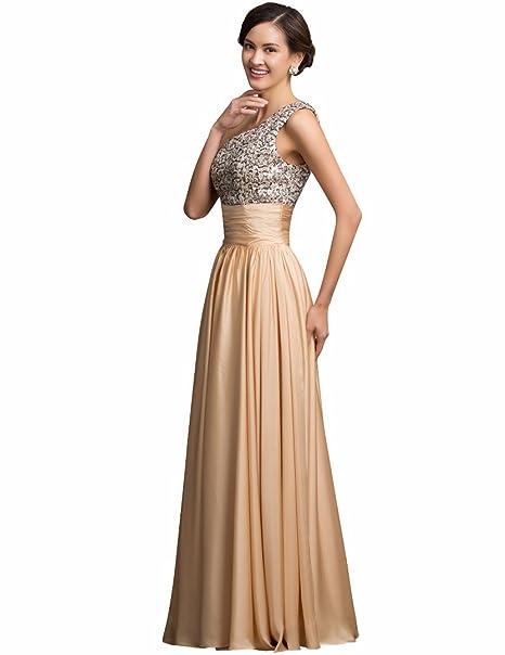 GRACE KARIN Vestido - Noche - para mujer Dorado dorado 40