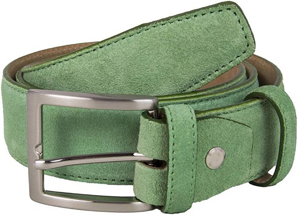 40 Colori Mens Trento Suede Belt Pastel Green
