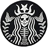 #2: Dead Mermaid Zombie Halloween Skull Skeleton Sew Iron on Embroidered Patches - Black (1Pcs.)
