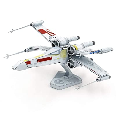 Fascinations Metal Earth ICONX Star Wars X-Wing Starfighter Color 3D Metal Model Kit: Toys & Games