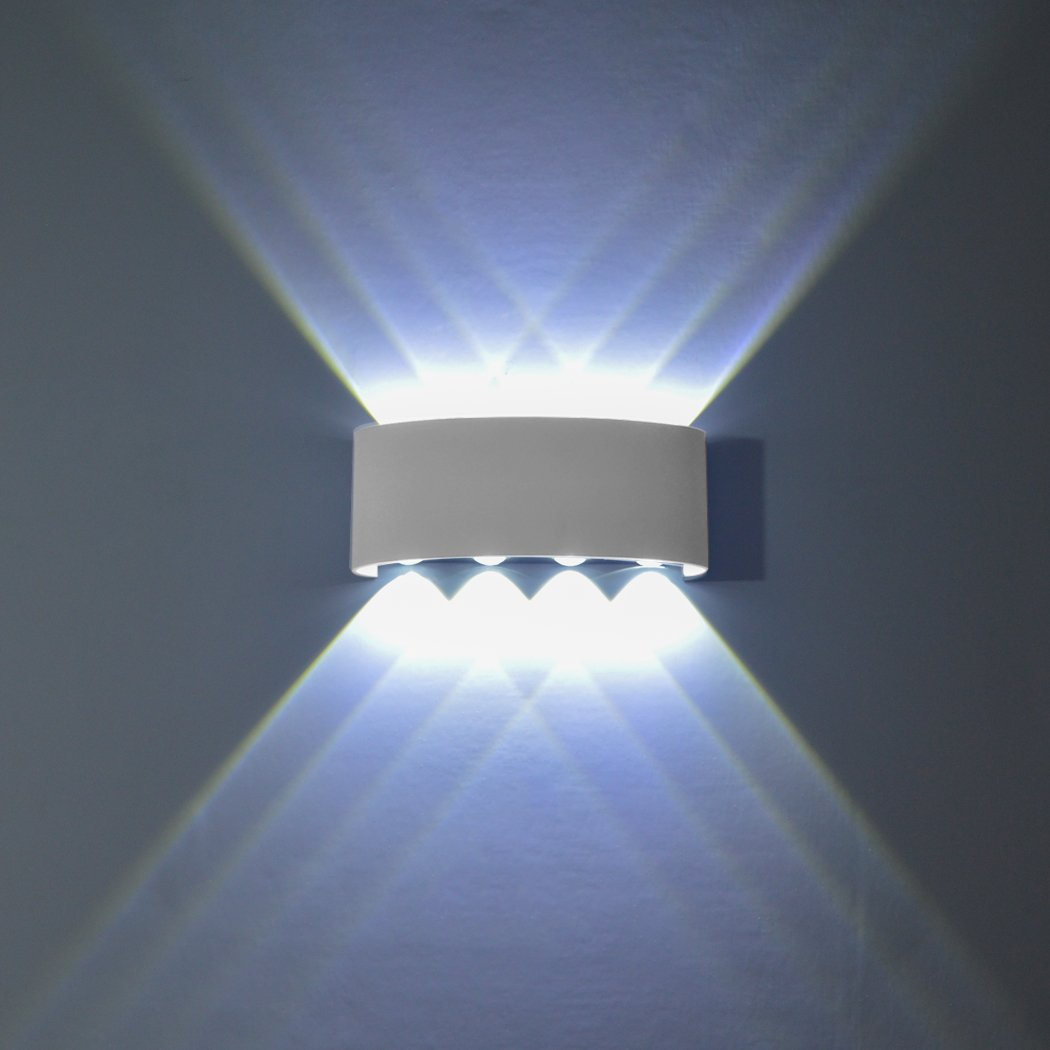 Funrui 8w Wall Sconce Ip65 Waterproof Wall Light Large