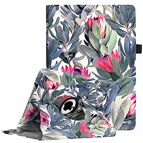 Fintie iPad 9.7 inch 2017 / iPad Air Case - 360 Degree Rotating Stand Cover with Auto Sleep Wake for Apple New iPad 9.7 inch 2017 Tablet / iPad Air 2013 Model, Protea (Ipad Air 32gb Wifi Case)