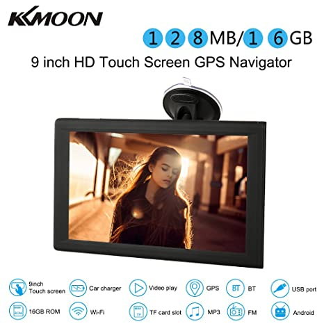 "KKmoon 9"" GPS Navegador Pantalla Tactil Android 16 GB Multimedia Reproductor WiFi BT FM USB"