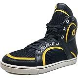 Heyday Footwear Men's Beast Black and Yellow High Top Sneaker