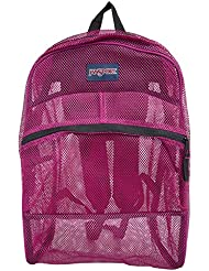 JanSport Mesh Pack Backpack - Berrylicious Purple / 18.6H x 13.8W x 6.5D