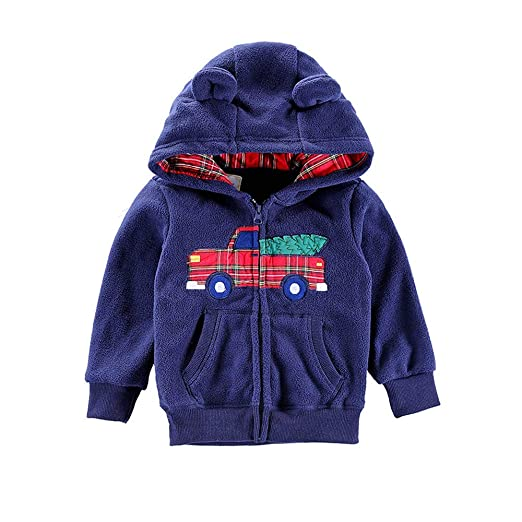 Infant Girls Boys Dinosaur Hoodie Warm Coat Cloak Jacket Thick Winter Clothes