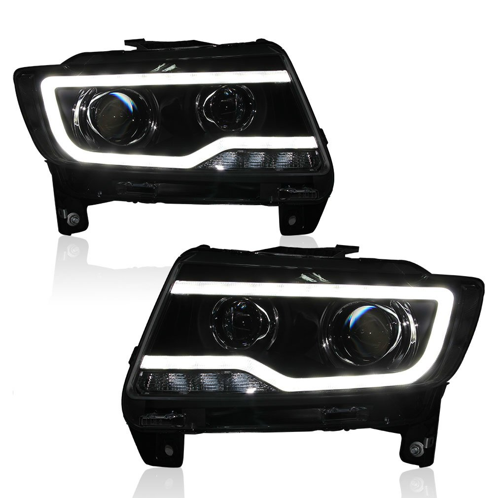 Amazon.com: Win Power 2011-2013 Jeep Compass Grand Cherokee Headlight  Assembly Replacement Kit With Beautiful LED DRL 5000K D2H Bi-Xenon Bulb And  Ballast (1 ...