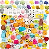 WATINC 60pcs Squishy Toys, Including 30 Pcs Random Cream Scented Kawaii Simulation Squishy Toy Medium Mini Soft Squishy & Random 30 Pcs Cute Animal Kawaii Mini Soft Squeeze Toy