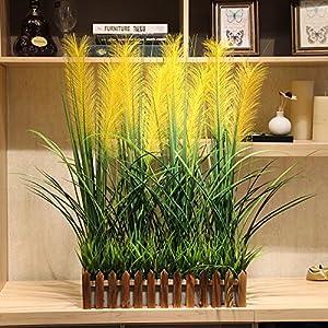 Emulation flower false landscaped fence reed kit company hotel shops showcase floral ceiling fresh green-shik 50×10cm 9