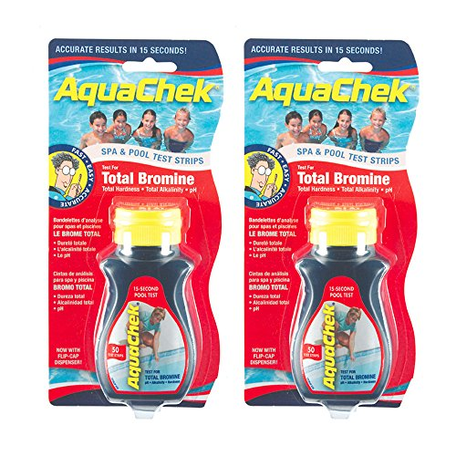 AquaChek 521253-02 Red Total Bromine Test Strips (2 Pack)