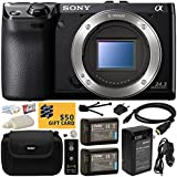 Sony NEX-7 NEX7 NEX7/B Compact 24.3 MP Mirrorless Interchangeable Lens Camera - (Body Only) with Must Have Accessories Bundle Kit includes includes x2 Replacement (1200mAh) NP-FW50 Battery + Hard Shell Carrying Case + Home Wall Charger with Car and European Adapter + Wireless Shutter Release Remote + HDMI Cable + Camera Lens Cleaning Kit + Bonus for Digital Prints