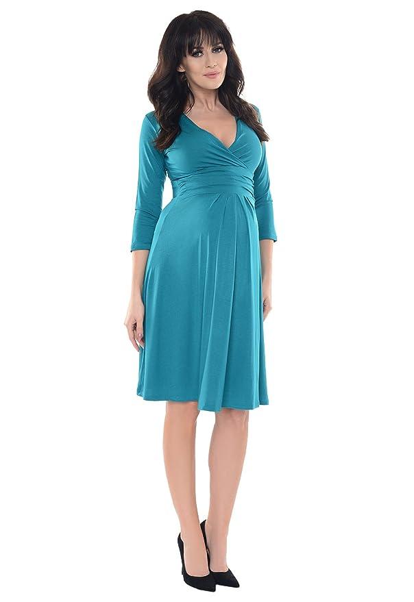 abe45cd6f650c Purpless Maternity Classic Pregnancy Dress Vneck A line 4400: Amazon.co.uk:  Clothing