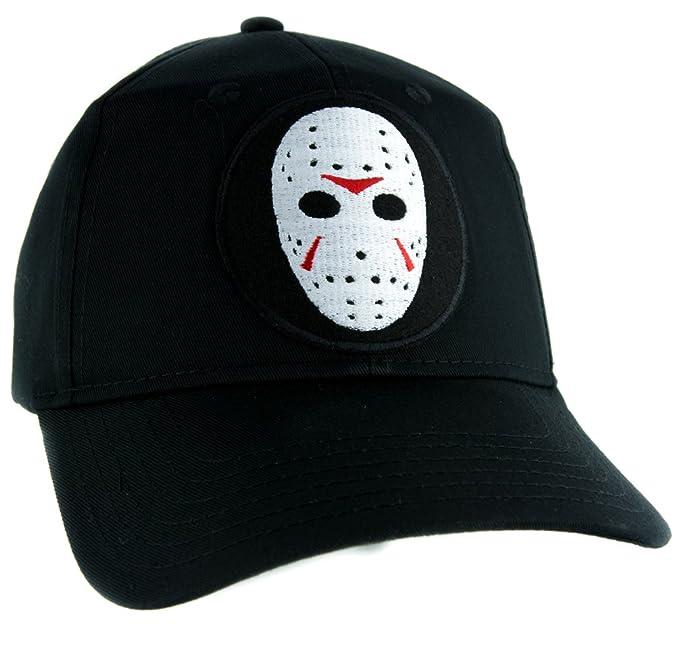 Amazon.com  Hockey Mask Friday the 13th Hat Baseball Cap Horror ... 69f0e6bcc83