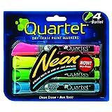 Quartet Neon Dry Erase Paint Markers, 4-Pack, Assorted Colors (6447415553)