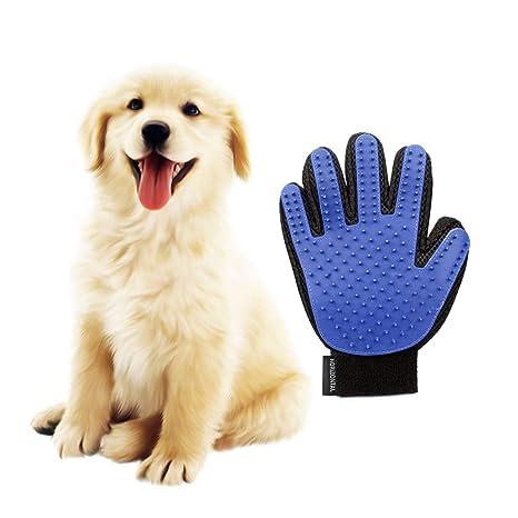 Guantes Manopla Masaje para mascotas de Retiro del pelo Perfecto y Aparato de masaje-Baño de cepillo y Suave Peine para Mascotas con Pelo Largo y ...