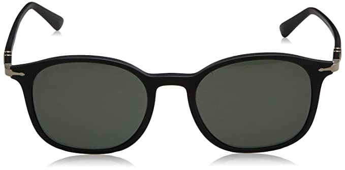 25e86a1c6e2e5 Amazon.com  Persol Mens Sunglasses Black Matte Green Plastic - Polarized -  51mm  Clothing