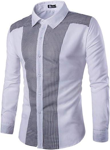 Camisas Casual Hombre Manga Larga, Covermason Trajes Casuales para Hombres Slim Fit tee Blusa para Vestido: Amazon.es: Ropa y accesorios