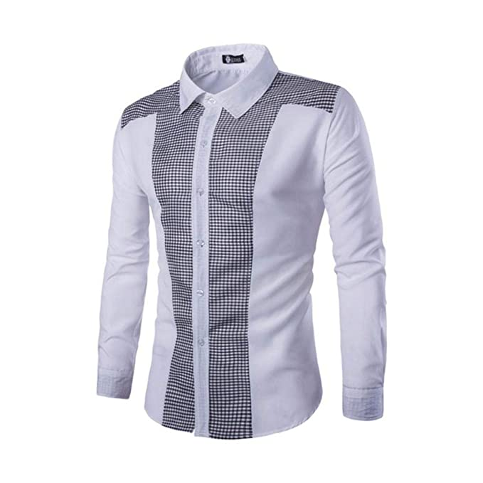 Camisas Casual Hombre Manga Larga, Covermason Trajes Casuales para Hombres Slim Fit tee Blusa para
