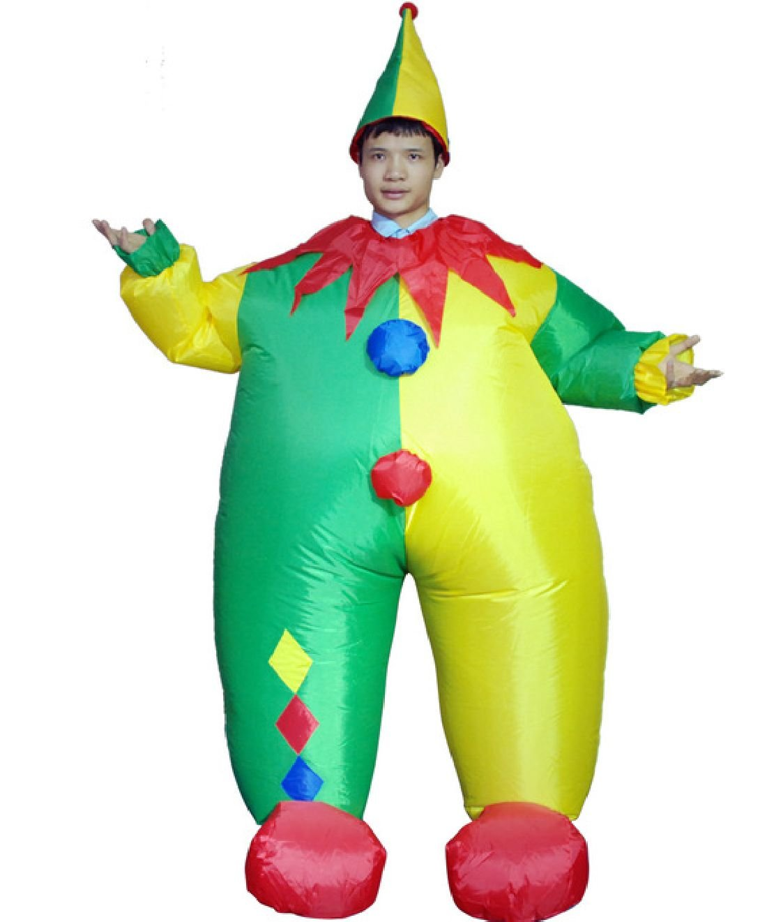 Inflatable Clown Costume Funny Game Cosplay Dress Halloween Party Clothes