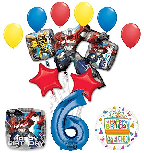 Mayflower Products The Ultimate Transformers 6th Birthday Party Supplies Balloon Decorations