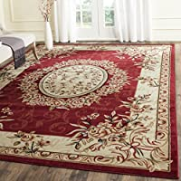 Safavieh Lyndhurst Collection LNH328C Traditional European Medallion Red and Ivory Area Rug (8 x 11)