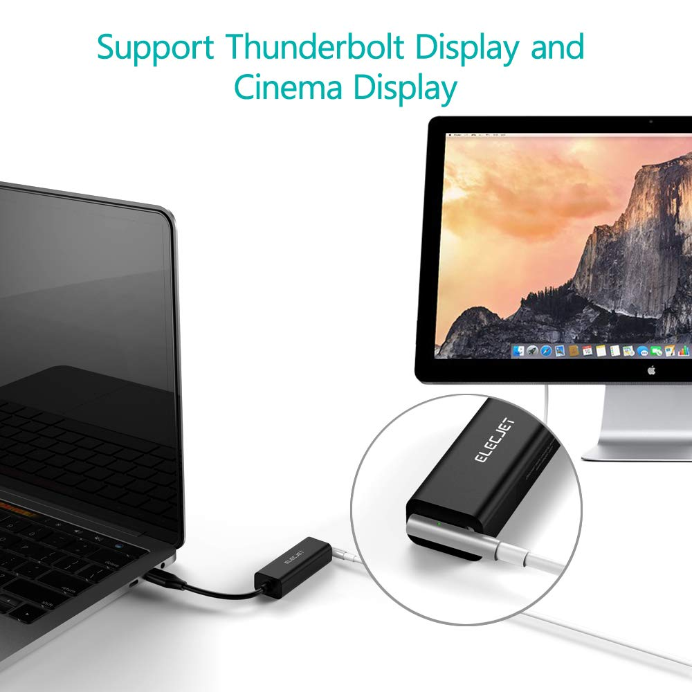 ELECJET Anywatt Compatible with New MacBook Pro//Air and Any USB C Devices USB C Magsafe Adapter Type C to Magsafe 1/&2 Converter Adapter Charge