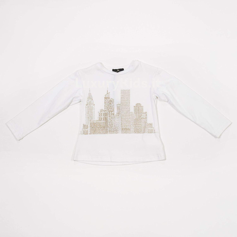 Offerta  – T-shirt stampa glitterata con tulle e inserti